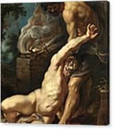 Cain Slaying Abel Canvas Print