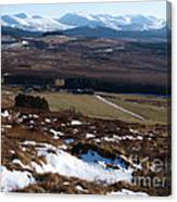 Cairngorms Mountains From Dorback Canvas Print