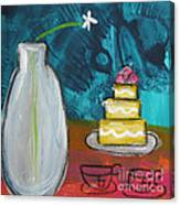 Cake And Tea For Two Canvas Print
