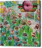 Cake Burger Canvas Print