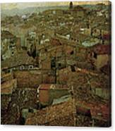 Calahorra Roofs From The Bell Tower Of Saint Andrew Church Canvas Print
