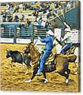 Calf Ropers Canvas Print