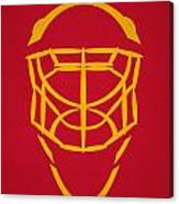 Calgary Flames Goalie Mask Canvas Print