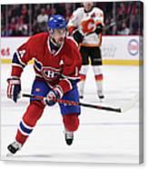 Calgary Flames V Montreal Canadiens Canvas Print
