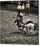 Calgary Stampede Black And White Canvas Print