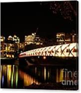 Calgary's Peace Bridge Canvas Print