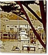 California Coastal Harbor Canvas Print