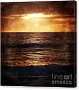 California Grunge Sunset Canvas Print