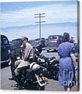 California Highway Patrol Harley Davidson Circa 1948 Canvas Print