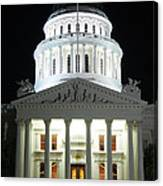California State Capitol At Night Canvas Print