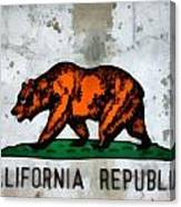 California State Flag Weathered And Worn Canvas Print