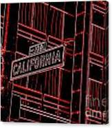 California Street Sign Red Canvas Print