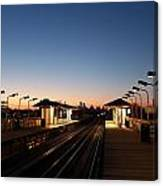 California Train Station Landscape Canvas Print