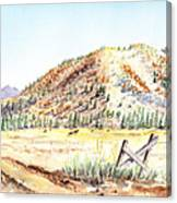 Californian Landscape Saint John Ranch Bald Mountain View Shasta County Canvas Print