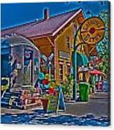 Calistoga Depot Canvas Print
