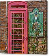 Call Me - Abandoned Phone Booth Canvas Print