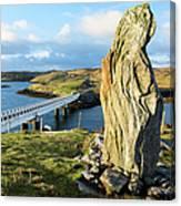 Callanish Viii Standing Stone, Isle Of Canvas Print