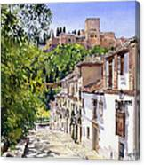 Calle Victoria Granada Canvas Print