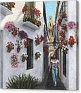 Calleje De Las Flores Cordoba Spain Canvas Print