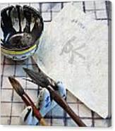 Calligraphers Workshop Canvas Print