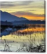 Calm At The Lake Canvas Print