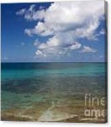 Calm Caribbean Ocean Canvas Print