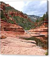 Calm Day At Slide Rock Canvas Print