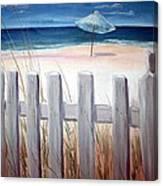 Calm Day At The Seashore Canvas Print