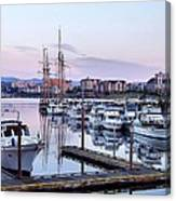 Calm In The Harbour Canvas Print