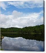 Calm Lake - Turbulent Sky Canvas Print
