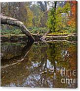 Calm On Big Chico Creek Canvas Print