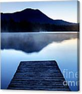 Calm Pond With Boardwalk Canvas Print