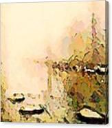 Calm River Foggy Day Canvas Print