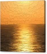 Calm Sunset At Sea Canvas Print