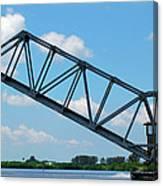 Caloosahatchee Train Draw Bridge Canvas Print