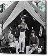 Calvary Troopers On Bivouac Tent Date Unknown Image Restored Color Added 2008  Canvas Print