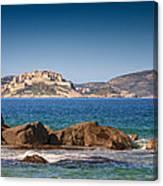 Calvi Citadel In Corsica Canvas Print
