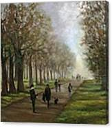 A Walk In Hyde Park London Canvas Print
