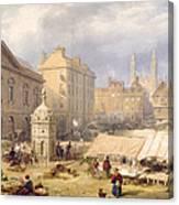Cambridge Market Place, 1841 Canvas Print