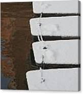Cambridge Winter Punts Canvas Print