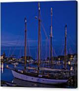 Camden Harbor Maine At 4am Canvas Print