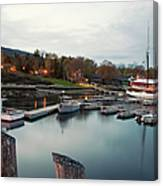 Camden Harbor, Maine At Twighlight Canvas Print
