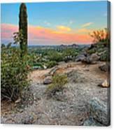 Camel Back Mountain Cactus View Canvas Print
