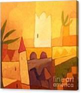 Camel Town Canvas Print