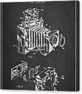 Camera Patent Drawing From 1963 Canvas Print