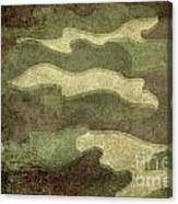 Camo Distressed Hard Version Canvas Print
