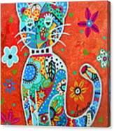 Camo El Gato Canvas Print