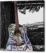 Camo Guitar Canvas Print