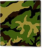 Camouflage Military Tribute Canvas Print