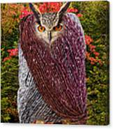 Camouflaged Owl Canvas Print